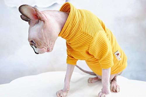 HCYD Geel coltrui kattenkleding sfinx kattenkleding warme winter, XL
