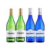 Vinos Blancos Castillo de San Diego y Maestrante - D.O. Tierra de Cadiz - Mezclanza Barbadillo (Pack de 4 botellas)
