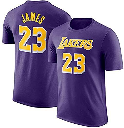 XH-Sport NBA Los Hombres de Jersey, (4) Estilos Lakers # 23 James, Cuello Redondo Manga Corta Camiseta, Adolescente Loose Short Deportes Jersey 2019 2020 versión Urbana,3,L