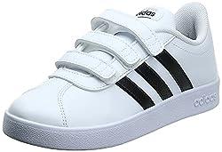 adidas VL Court 2.0 Cmf C, Scarpe da Tennis, Bianco (Ftwwht/Cblack/Ftwwht 000), 34 EU