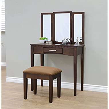 Frenchi Home Furnishing RVMH206 Vanity, Espresso