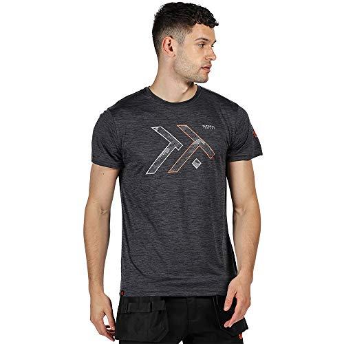 Regatta Herren Arbeitsshirt Tactical Threads leitet Feuchtigkeit schnell ab mit Dread-Print – T-Shirts/Polos/Vests – Herren 3XL Seal Grey/Marl