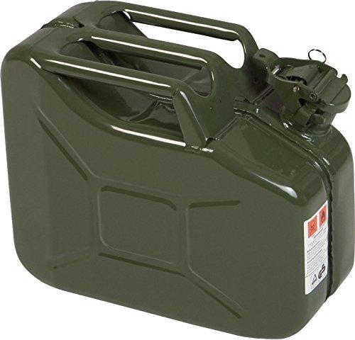 Metalen jerrycan CLASSIC 10l, met VN-goedkeuring voor benzine, diesel en andere gevaarlijke goederen, olijf
