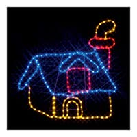 ジェフコム LEDルミネーション 連結タイプ LEDモチーフ 煙突のある家 スタンド付き SJ-A19-N