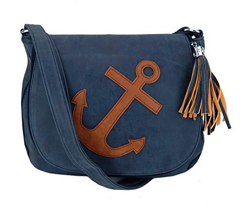 Ella Jonte Tasche Anker blau braun Handtasche Schultertasche Ankertasche maritim