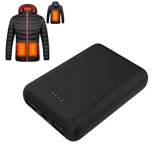 Cargador portátil 10000mAh Power Bank para Chaleco calefactado, Paquete de batería Externa de Gran Capacidad de 5v 2A, Paquete de batería Externa pequeña y Ligera para Calentar Ropa
