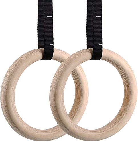 femor Wooden Gymnastic Rings,Home Fitness Ring, Pro Olympic Gym Ring...