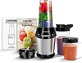 COSORI Blender for Shakes and Smoothies, 800W Auto-Blend High Speed Smoothie Blender/Mixer for Ice Crushing Frozen Fruits, 2x 24oz Cups, 1x 12oz Cup, ETL Listed/FDA Compliant, C011-PB
