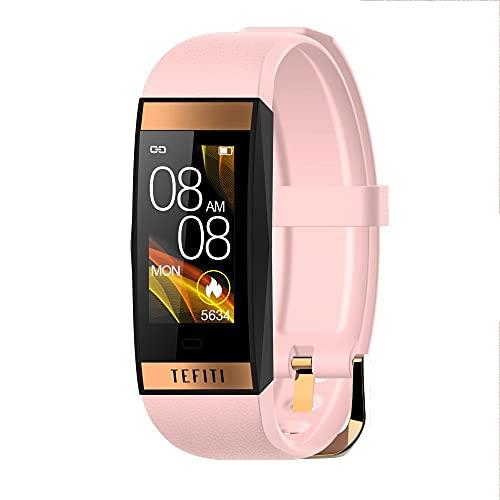 MZTYX Smart Watch Men's Women's Fitness Tracker Watch with Music Cuerpo Energía Monitoreo Animación Ejercicio Cardriómetro 15-20 Sky Battery Life 10 Modo de Movimiento-mi
