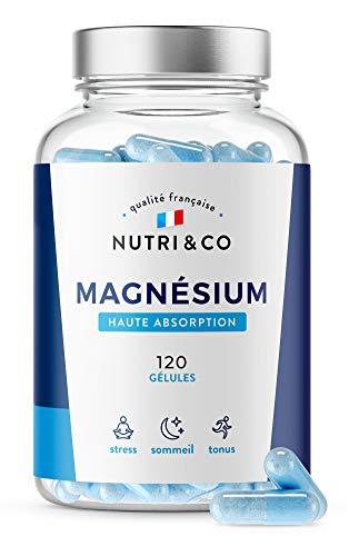 Magnésium Végétal + Vitamine B6 Bio-active | Teneur Égale au Magnésium Marin & Absorption Supérieure au Bisglycinate | 120 Gélules 300mg /j | Malate & Liposome de Magnesium | Made in France | Nutri&Co
