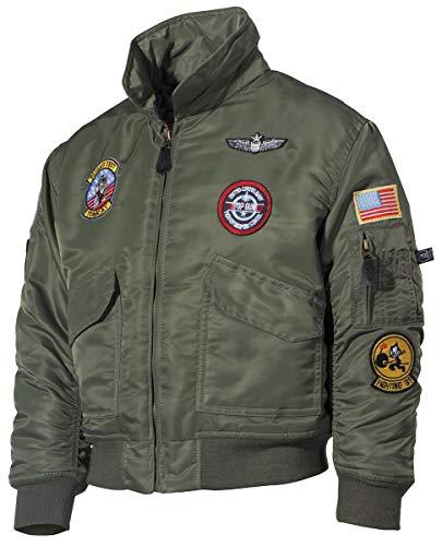 MFH Us CWU Veste de Pilote pour Enfant Motif Ailes d'uniformes Vert Vert s