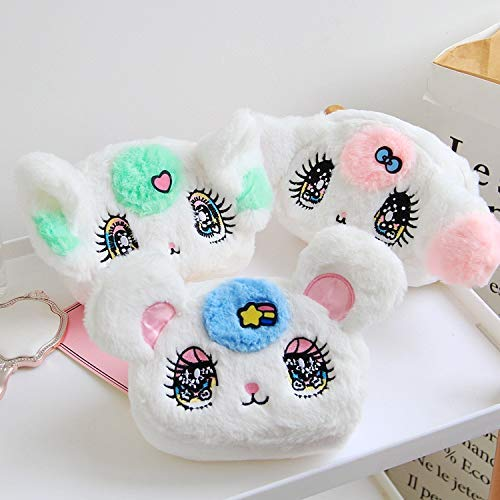 asfrata265 Plüschtier 1 Stück 13X17Cm Anime Katze Plüsch Reißverschlusstaschen Brieftasche Geldbörse Cartoon Soft Mini Geld Brieftasche Mädchen Make-Up Waschen Aufbewahrungstasche
