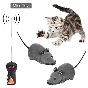 SOULONG Souris pour Chat Jouet Souris sans Fil pour Chien à Fourrure, télécommande drôle Rat Cadeau Fantaisie pour Animal Domestique