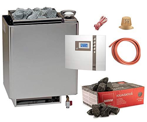 Bio-Saunaofen Set EOS Bi-O Mat Saunaofen 7,5 kW / 9 kW mit EOS Econ H1 Saunasteuerung, Temperaturfühler, Kabel und Saunasteine … (7,5 kW)