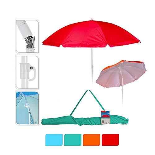 Sombrilla de playa diam. 160cm colores surtidos con funda