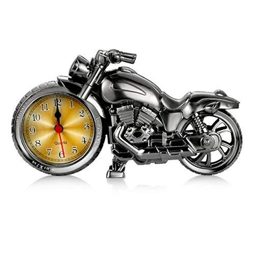 WSWJ Reloj Digital Car Adornos Automotive Tablero de Instrumentos Decoración Modelo de la Motocicleta automática del Reloj del Reloj En Coche Decorativas for el Hogar (Color : Gun Gray)