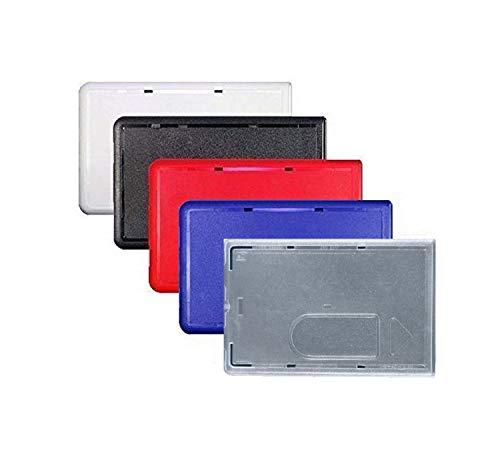 Waizmann.IDeaS® 5x BLAU Schutzhülle Kartenhülle Bankkartenhülle EC Karten Plastikkarten Scheckkarten Bankkarten Kreditkarten Polycarbonat Daumenausschub