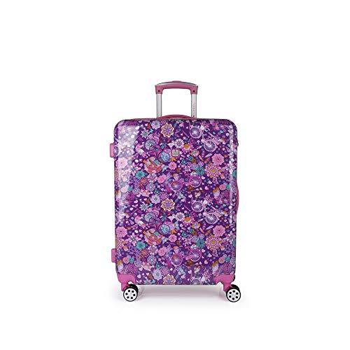 Gabol - Abril | Maletas de Viaje Medianas Duras de 44 x 64 x 25 cm con Capacidad para 55 L de Estampado Floral
