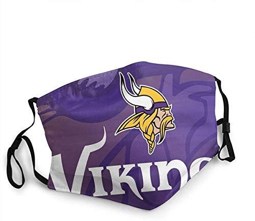 Baumwoll Mundschutz Minnesota Vikings Stoff StoffMundschutz Wiederverwendbare atmungsaktive Staubabdeckung für Unisex