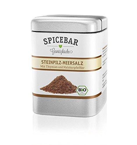 Spicebar Steinpilz-Salz, getrockntete Pilze mit Meersalz in Bio Qualität (1 x 100g)
