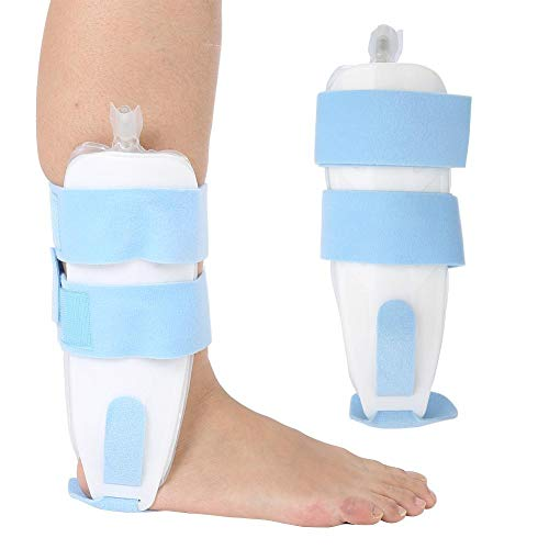 ZJchao Air and Foam Ankle Stirrup Brace, Air Pump Foot Drop, Torn ligaments, Post-Op Cast Support Splint Reduce Swelling and Inflammation for Strain Sprain Arthritis