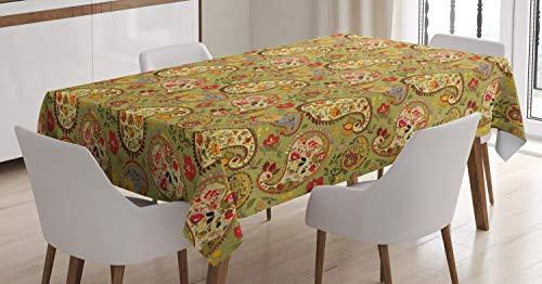 ABAKUHAUS Paisley Tafelkleed, Kleurrijke Perzische Style, Eetkamer Keuken Rechthoekige tafelkleed, 140 x 240 cm, Veelkleurig