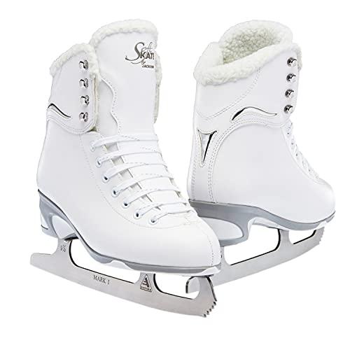 Jackson Ultima SoftSkate Womens/Girls Figure Ice Skates Color: White/Fleece Size: 7 Women's
