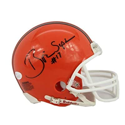 Authentic Autographed Brian Sipe Cleveland Browns Logo Football w/Go Browns ~ Certified