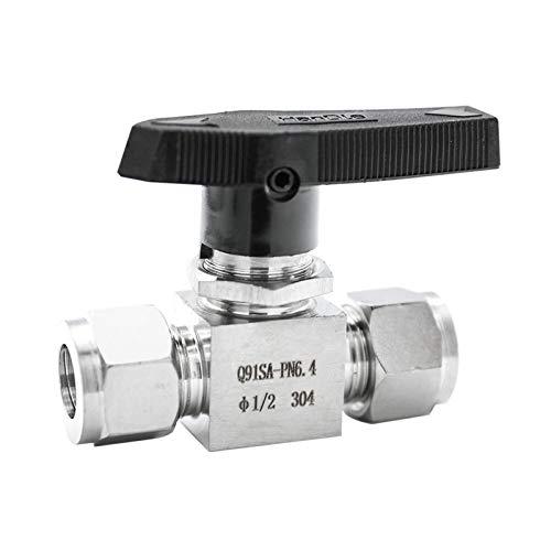 """xiaokai Nadelkugelventil 3mm-12mm 1/8\"""" 1/4\"""" 3/8\"""" 1/2\"""" OD-Zoll-Schlauch-SS304 316 Wasser Compression Öl Luft-Gas-Kraftstoff-Linie Griff Abschaltfunktion Kugelhahn für Wasser, Öl & Gas"""