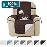 100% Water Proof Recliner Chair Covers Pet Furniture Cover for Leather Recliner Protector Slip Covers for Pets Cats Sitting Area Up to 30' Couch Covers Non Slip (Oversized Recliner: Brown)