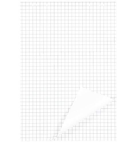 SCHÄFER SHOP Flipchart Papier kariert – Flipchart Blöcke kariert gelocht weiß, 680 x 980 mm, 20 Blatt Papier je Block - 5 Blöcke