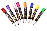 Trendy Tap Dry Erase Liquid Chalk Markers whiteboard, Fluorescent Neon Chalkboard window Glass Marker Pens, LED Writing Boards (Pack Of 5)