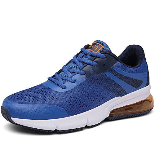 SOLLOMENSI Sportschuhe Laufschuhe Damen Herren Retwin Turnschuhe Straßenlaufschuhe mit Snake Optik Sneaker 40 EU C Blau