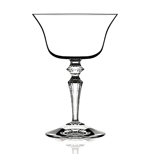 Italesse Set 6 Wormwood Double Presidente Champagne/cocktail coupe cc. 220 transparent