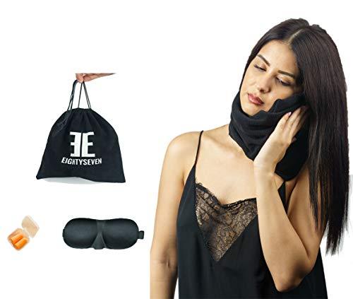 Almohada de viaje con soporte para cuello – EightySeven