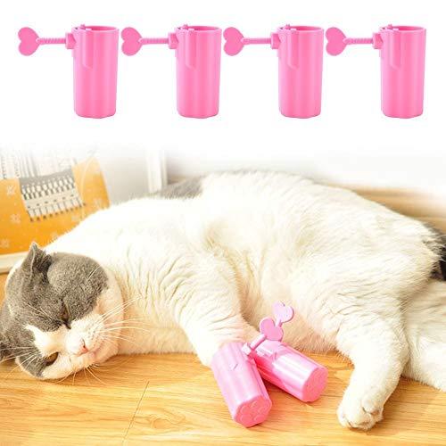 HEEPDD 4 Stücke Katze Anti-Scratch Stiefel, Verhindern Haustier Scratch Einstellbare Schuhe Katze Pfote Protector für Hundewelpen Katzen für Hundewelpen Katzen Haus Baden(Rosa)