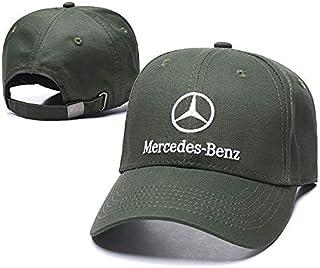 Funsport Baseball Cap Hat with Car Emblem Unisex Baseball Cap for Mercedes-Benz Accessories (Olive Green)