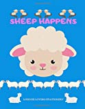 Sheep Happens: Softcover Notebook Journal 120 College Ruled Pages Durable Glossy Cover White Paper|8.5x11 Inches|Cute Sheep
