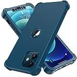 ORETECH Funda Silicona Carcasa para iPhone 12 Pro y iPhone 12 6.1', con [3X Protector de Pantalla Vidrio Cristal Templado]360 Anti-Arañazos Bumper TPU PC Delgada Caso Case para iPhone 12 Pro 12 - Azul