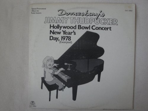 Doonesbury's Jimmy Thudpucker Hollywood Bowl Concert New Year's Day, 1978 Windsong Records DJL1-2750 Special Promotional Album for Radio Stations Viny Lp Record Nm