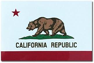 カリフォルニア 州旗 ステッカー ( スーツケース ・ 車 にも貼れる 防水 シール ) (M 約90mmx60mm)
