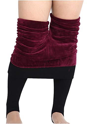 女性のベルベットパンツプラス作業日報のためのあぶみクリスマスレギンス裏地サイズのズボン550グラムフリース