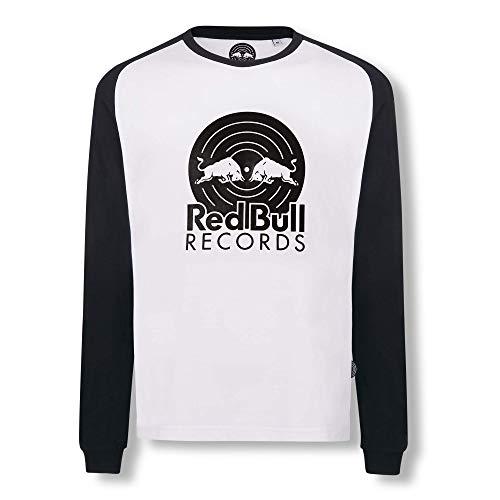Red Bull Records Vinyl Longsleeve Camiseta, Blanco Hombre Medium Top, Records Original Ropa & Accesorios