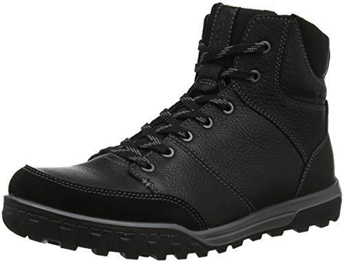 ECCO Herren URBAN Lifestyle Hohe Sneaker, Schwarz (Black 51052), 45 EU