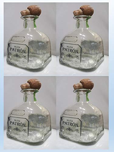 Patron Silver Empty Bottle 4 Pack 750ML