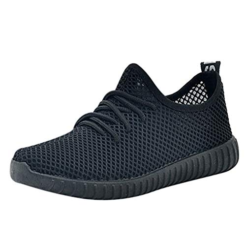 Hommes Femme Basket Mode Couleur Unie Antidérapant Maille Chaussures de Sports Course Sneakers Fitness Gym athlétique Multisports Outdoor Casual