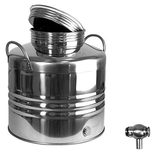 Motorgeräte Fischer Edelstahlkanne, Schnapskanne 30 Liter Inhalt, Getränkefass für Lebensmittel gebördelt