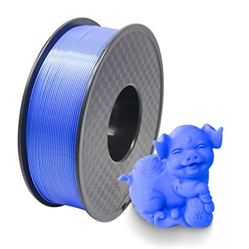 Filament PLA 3D-Drucker Filament 1,75 mm blau Toleranzgenauigkeit +/- 0,02 mm PLA 3D-Drucker Filament 1 kg Spule (2,2 lbs) für 1,75 mm FDM 3D-Drucker (Blau)