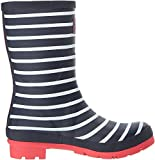 Joules Women's Molly Welly Rain Boot, French Navy Stripe, 7 Medium US