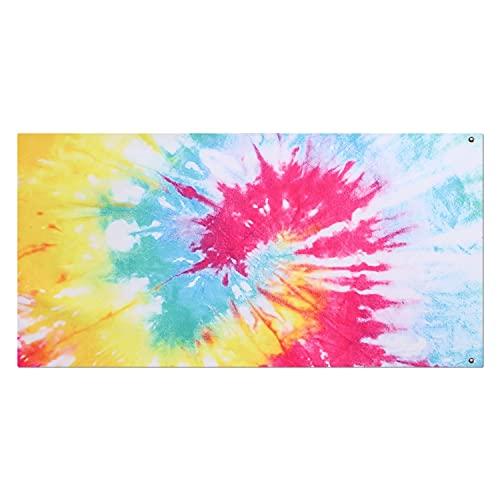 Toalla de playa de microfibra con tinte de arco iris, suave, de secado rápido, súper absorbentes, toalla de playa colorida para viajes, piscina, baño para mujeres, hombres y niñas